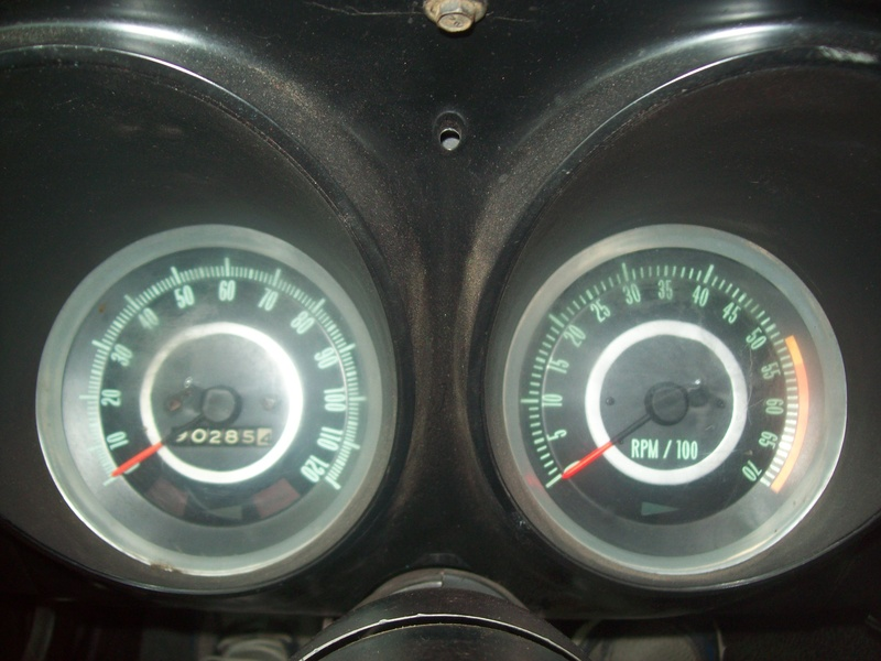 interior 1967 camaro ss rs 350 convertible speedometer and tachometer